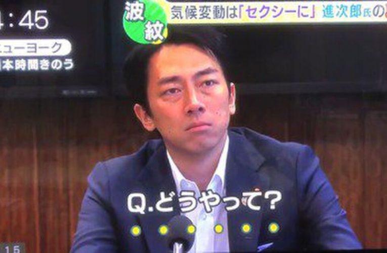 話題の何か意味がありそうだけど何の意味もない発言の小泉進次郎氏について…