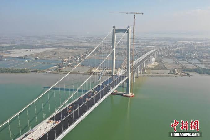 中国の広東虎門橋、風によって呼吸しているように揺れる→現在封鎖中